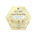 Buzzee Organic Beeswax Wraps Busy Bees 4 Pack