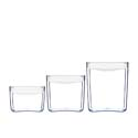 ClickClack Pantry Cube Container White Set of 3