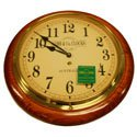 Cobb & Co Arabic Numeral Golden Oak Medium Railway Clock 32cm