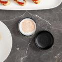 Maxwell & Williams Caviar Granite Round Sauce Dish 7cm