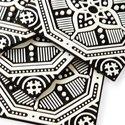 Rapee Coaster Set of 4 Mosaic Flower Black - thumb 2