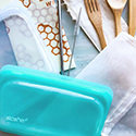 Stasher Reusable Snack Bag 11.5x19cm Aqua