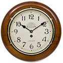 Victoria Station Arabic Numeral Walnut Wall Clock 28cm