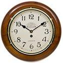 Victoria Station Arabic Numeral Walnut Wall Clock 32cm