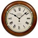 Victoria Station Roman Numeral Walnut Wall Clock 28cm