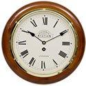 Victoria Station Roman Numeral Walnut Wall Clock 32cm