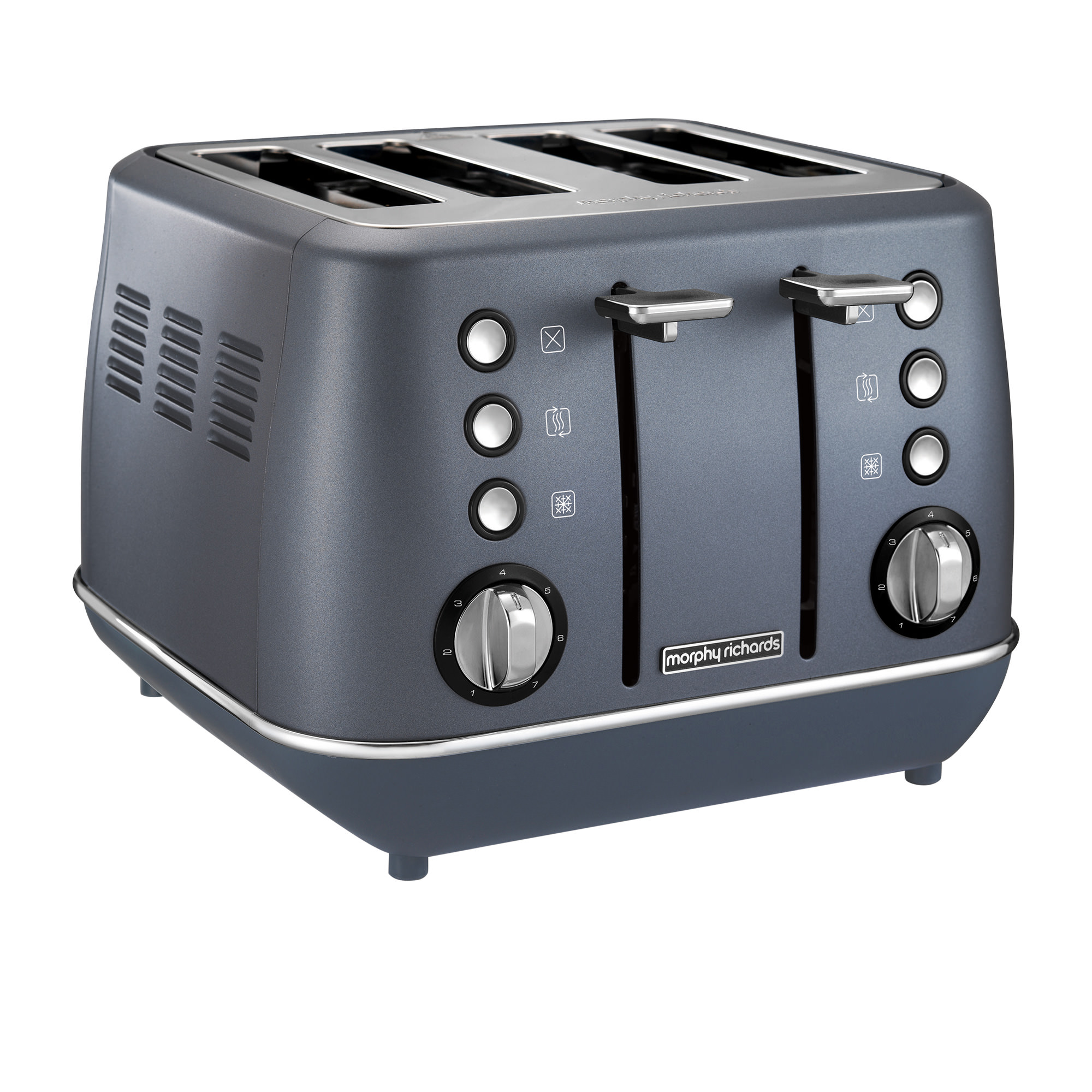 Morphy Richards Evoke Special Edition 4 Slice Toaster Blue Steel