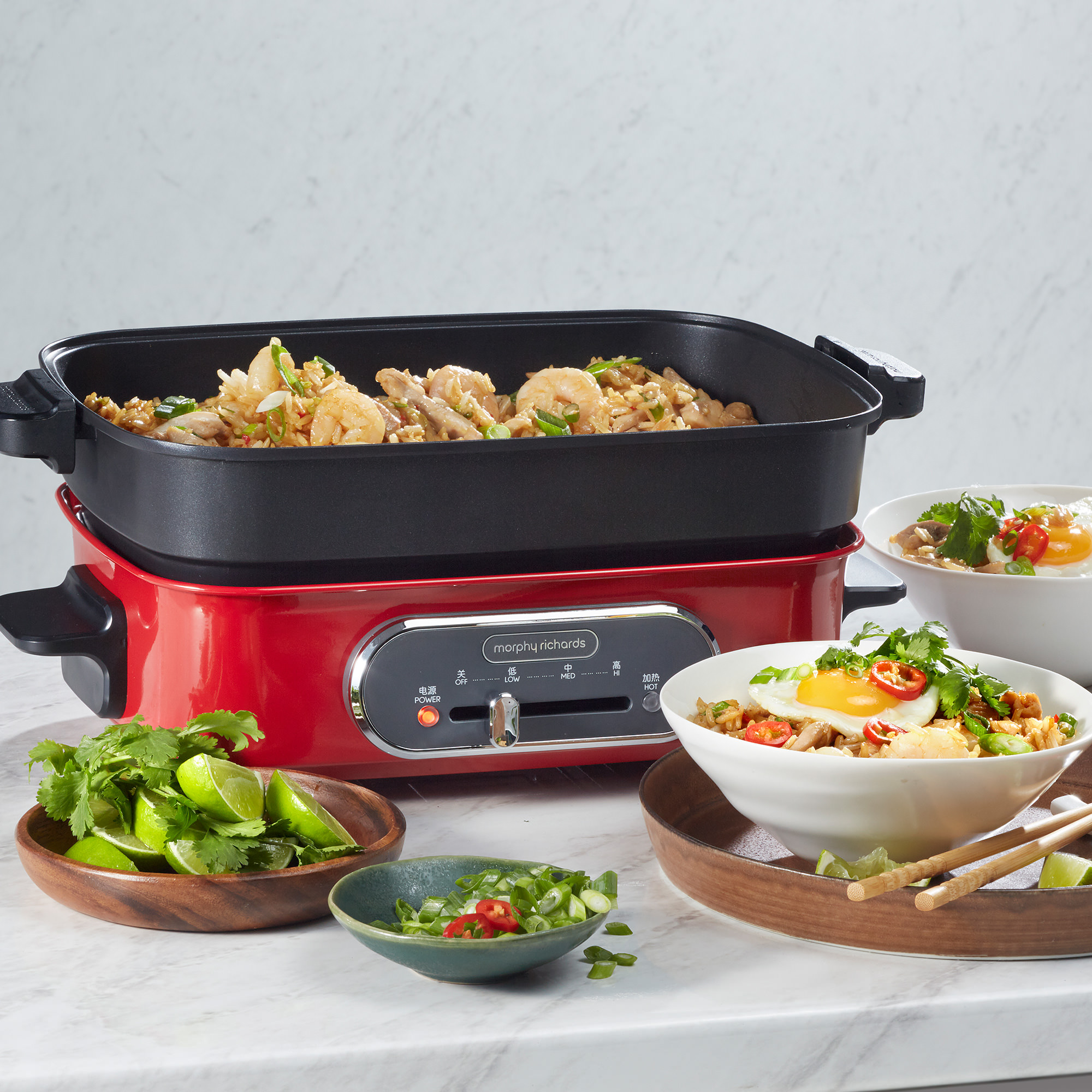 Morphy Richards Multi Function Cooking Pot Red image #4