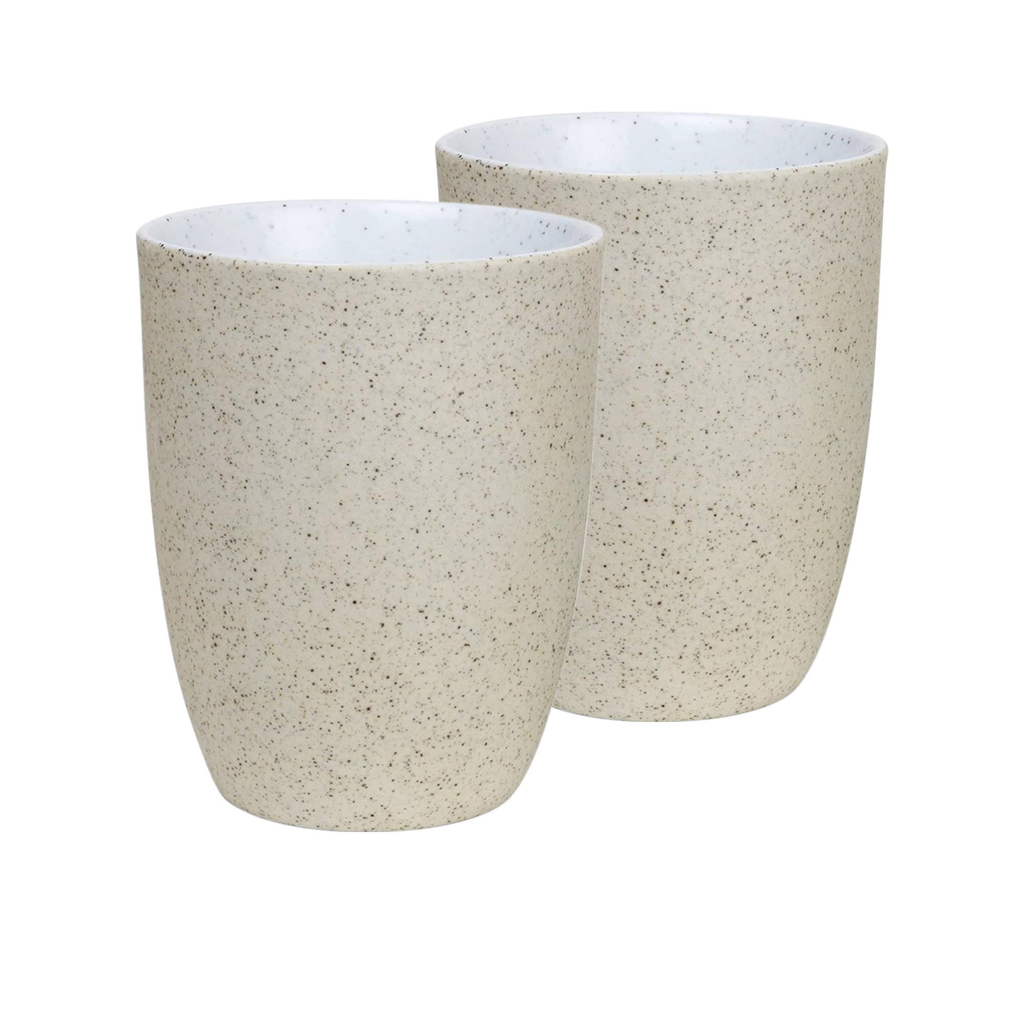 Robert Gordon Granite 2pc Latte Cup Set 330ml White