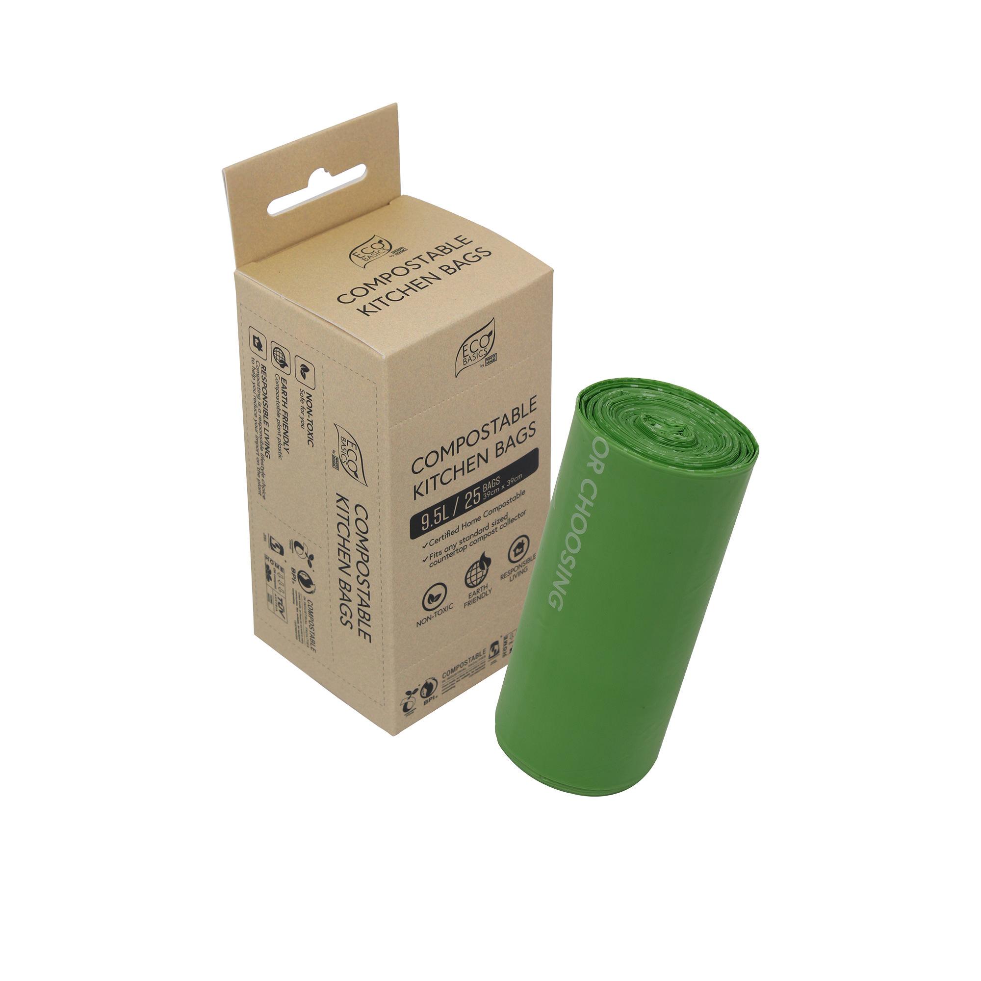 White Magic Eco Basics 25pk Compostable Kitchen Bags 9L