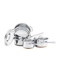 Per Vita 4pc Set w/ Saucepans & Steamer