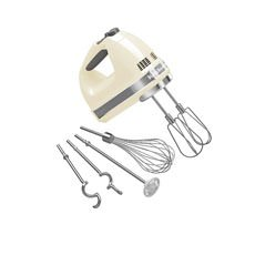 KitchenAid <b>Artisan</b> 9 Speed Hand Mixer Almond Cream