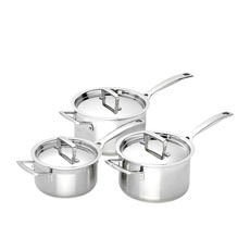 3-Ply Stainless Steel 3pc Saucepan Set