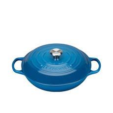Le Creuset Signature <b>Cast Iron</b> Shallow Casserole 30cm - 3.2L Marseille Blue