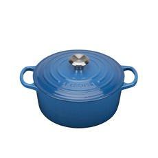 Le Creuset Signature <b>Cast Iron</b> Round Casserole 20cm - 2.4L Marseille Blue