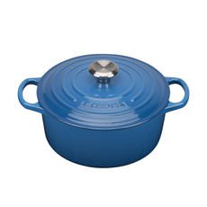 Le Creuset Signature <b>Cast Iron</b> Round Casserole 26cm - 5.3L Marseille Blue