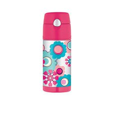Funtainer Insulated Drink Bottle 355ml Flower