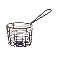 Orwell Round Serving Basket Black