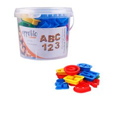 Appetito Alphabet & Number <b>Cookie Cutters</b> in Tub 36pc