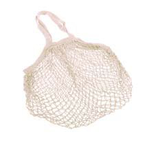 Cotton String Bag Long Handle Natural