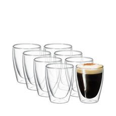 Cafe Twin Wall Glass 250ml Set of 8