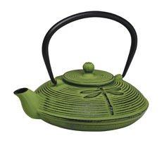 Dragonfly Cast Iron Teapot Green 770ml