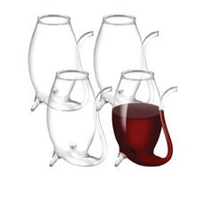 Glass Port Sippers Set of 4