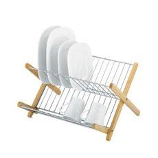Monterey Chromed Steel & Timber Dish Rack