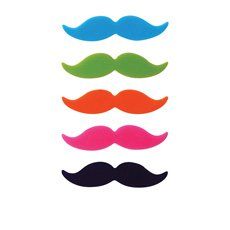 Moustache Glass Markers Set of 8