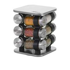 Rotating Spice Rack 12 Jar Set