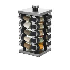 Rotating Spice Rack 20 Jar Set