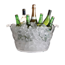 Large Oval Drinks Pail/Cooler Acrylic