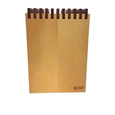 Big Chop Timber <b>Knife Block</b> Storage Blonde