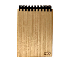 Big Chop Timber <b>Knife Block</b> Storage Grain