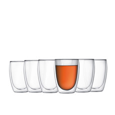 Pavina 6pc Double Wall Glasses 350ml