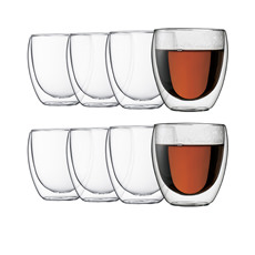 Pavina Double Wall Glasses 250ml - Buy 6 Get 8