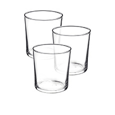 Bormioli Rocco Bodega 3pc Medium Glass Tumbler Set 370ml