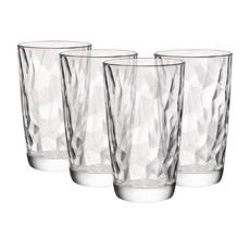 Bormioli Rocco Diamond 4pc Cooler Glass Set 470ml