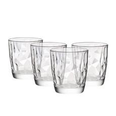 Bormioli Rocco Diamond 4pc DOF Glass Set 390ml