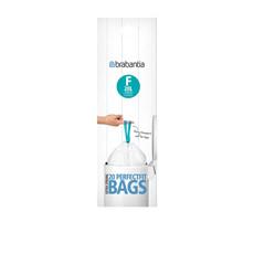 Bin Liner 20 Litre Slimline 20 Bags White
