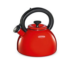 Domus Enamelled Whistling Kettle 2.5L Red