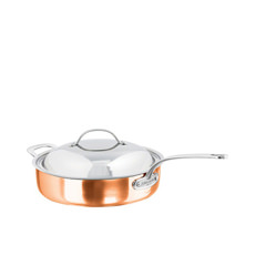 Escoffier Saute Pan w/ Lid and Helper Handle 28cm