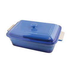 La Cuisson Rectangular Dish 40cm with Lid Sky Blue