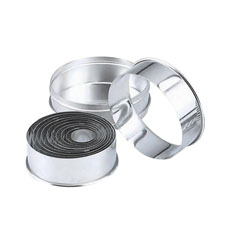 Chef Inox <b>Cutter</b> Plain Round S/S 14pc