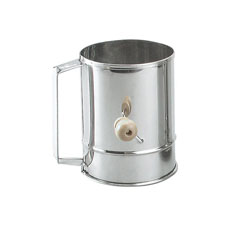 Stainless Steel Crank handle Flour Sifter 5 Cup