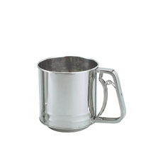 Stainless Steel Squeeze handle Flour Sifter 3 Cup