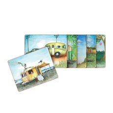 Vintage Caravan Coasters Set of 6