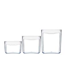 Pantry Cube Container White Set of 3
