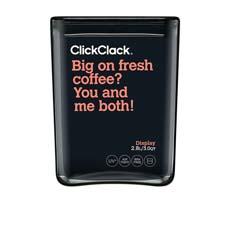 ClickClack Display Cube Container w/ <b>Black</b> Lid 2.8L