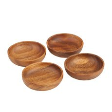 Acacia Round Bowl Set of 4